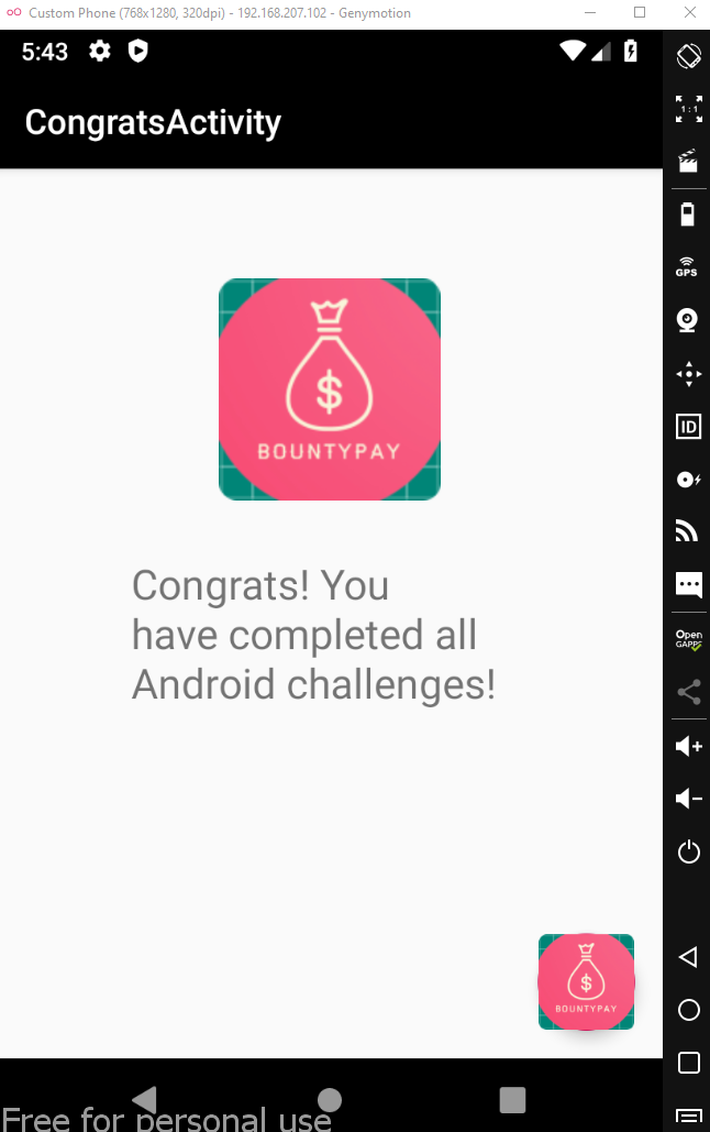 solved android challenge